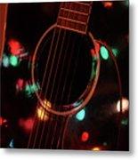 Guitar And Lights Metal Print