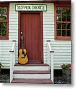 Guitar At Cold Spring Chronicle Metal Print