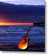 Guitar At Sunrise Metal Print