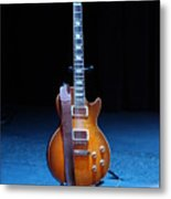 Guitar Blue Metal Print