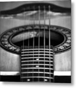 Guitar Close Up Metal Print