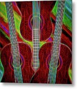 Guitar Fantasy Four Metal Print