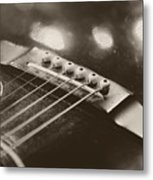 Guitar Strings Metal Print
