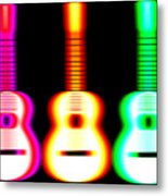 Guitars On Fire Metal Print by Andy Smy