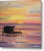 Gulf Coast Fishing Shack Metal Print