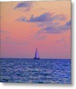 Gulf Coast Sailboat Metal Print