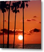 Gulf Coast Sunset Metal Print