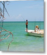 Gulf Fisherman Metal Print by Steven Scott