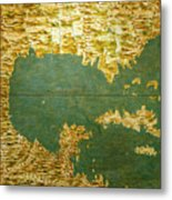 Gulf Of Mexico, States Of Central America, Cuba And Southern United States Metal Print