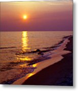Gulf Of Mexico Sunset Metal Print by Thomas R Fletcher