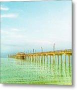 Gulf Shores Pier Metal Print