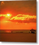 Gulf Sunset Metal Print