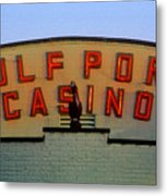 Gulfport Casino Metal Print