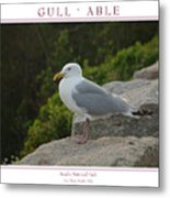 Gull Able Metal Print