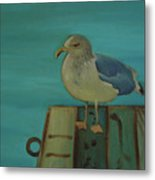 Gull And Ring Metal Print