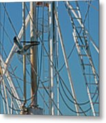 Gull At Sandwich Marina Metal Print