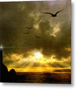 Gull Flight Metal Print