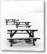 Gull Lake Winter Study 3 Metal Print