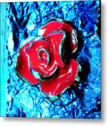 Gum Wrapper - Blue Metal Print