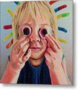 Gummy Eyes Gummy Worms Metal Print