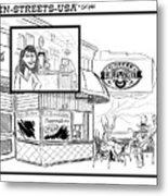 Gurley Street Coffee Metal Print