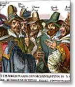 Guy Fawkes, 1570-1606 Metal Print