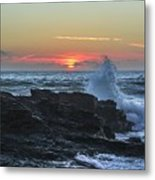 Gwithian Beach Sunset  Metal Print