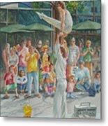 Gymnast Metal Print by Charles Hetenyi