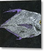 Gyotaku African Pompano Metal Print by Captain Warren Sellers