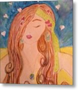 Gypsy Girl 2 Love To The World Metal Print