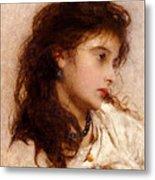 Gypsy Girl Metal Print by George Elgar Hicks