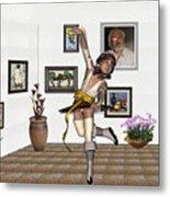 Digital Exhibartition _  Dancing Girl  Metal Print
