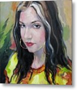 Gypsy Girl Metal Print