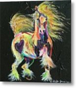 Gypsy Gold Pony Metal Print
