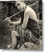 Gypsy Player Metal Print