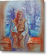 Gypsy With A Pipe Metal Print