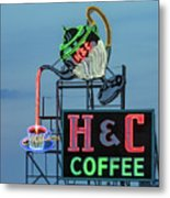 H And C Coffee Metal Print