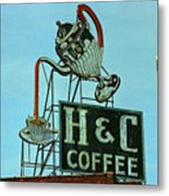 H C Coffee Metal Print