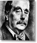 H. G. Wells Author Metal Print