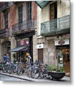 Barcelona Shops Metal Print