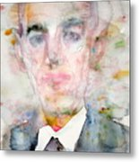 H. P. Lovecraft - Watercolor Portrait.3 Metal Print