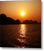 Ha Long Bay Sunset Metal Print