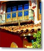Hacienda Balcony by Darian Day Metal Print
