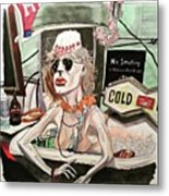 Bathtub Ginny Metal Print
