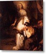 Hagar And The Angel 1645 Metal Print