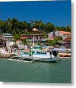 Hagnaya's Port And Fishing Village Metal Print