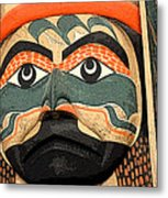 Haida Faces Metal Print