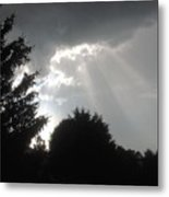 Hail Storm Clouds Metal Print