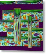 Hail To Veggies Collage Metal Print