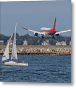 Hainan Airlines 787 Dreamliner Landing At Logan Metal Print